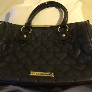Betsy Johnson Bag quilted hearts large like new